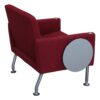 Steelcase Used Brayton Reception Chair with Tablet, Red