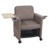 Teknion Belize Used Mobile Chair with Right Tablet, Brown