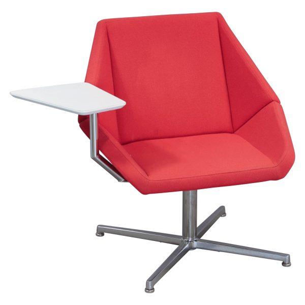 Arcadia Nios Used Lounge Tablet Chair, Red Orange