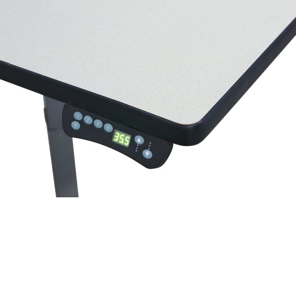Corner Used Electric Adjustable Height Table, Light Gray