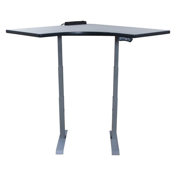 HAT Used Corner Electric Sit Stand Table, Light Gray