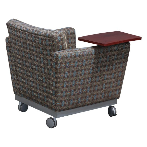 Arcadia Used Tablet Chair, Brown and Cream